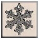 MILL HILL 12039 - Large Snowflake Crystal Bright