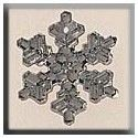 MILL HILL 12037 Medium Snowflake Crystal Bright