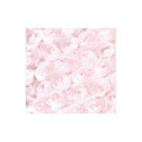 Minky Dimple Lt. Pink 150 Ancho