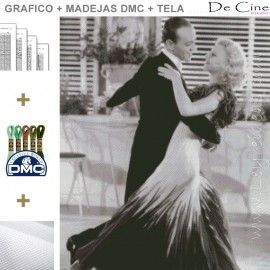 Fred Astaire y Ginger Rogers - GRAFICO+MADEJAS+TELA