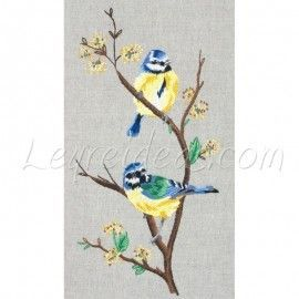 Blue Tits Embroidery Kit