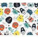 Tela FUNNY MONSTERS. (Ancho 150 cms)