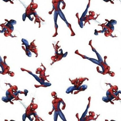Tela Spiderman Marvel. (Ancho 150 cms)