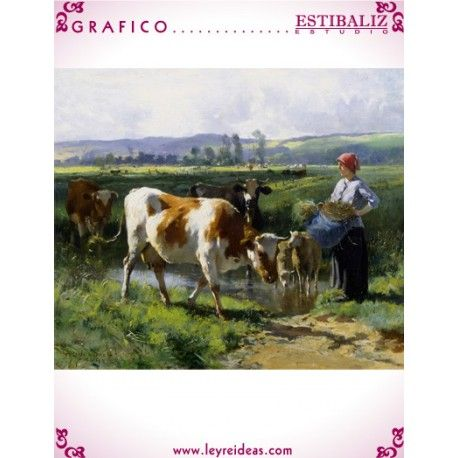 Milkmaid with Cows